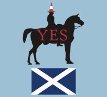 Glasgow Duke Says Yes Scotland T-Shirt by simpsonvisuals
