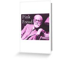 Pink Freud Greeting Card