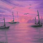 Sails at Dusk by Holly Martinson