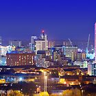 Leeds Skyline at Night by Ian Wray
