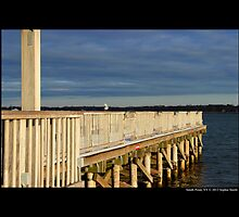 Smith Point County Park Dock Detail - Fire Island, New York by © Sophie W. Smith