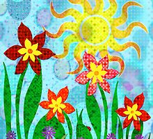 Fanciful Flowers by MSRowe Art and Design