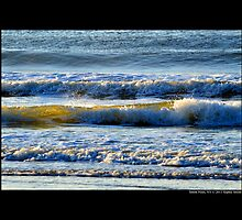 Atlantic Ocean Waves During Sunrise - Smith Point, New York by © Sophie W. Smith