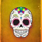 Sugar Skull CMYK ~ iPhone Case by hmx23
