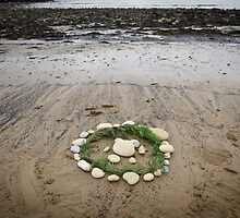 Circles on the beach by Sarah Horsman