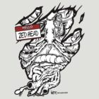 HELLO my name is ZED HEAD (light colors) by cabassi