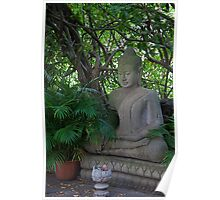 Cambodia. Phnom Pehn. Royal Palace. Statue of Buddha. Poster