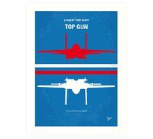 No128 My TOP GUN minimal movie poster Art Print