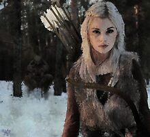 Alfar - Elf Archer Fantasy Digital Art by Galen Valle