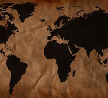 Old Wrinkled World Map by Nicklas81