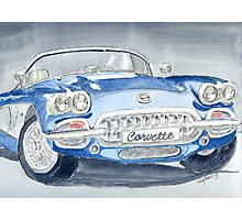 Corvette Blue Photographic Print