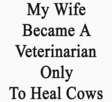 My Wife Became A Veterinarian Only To Heal Cows by supernova23