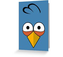 Blue and Angry  Greeting Card