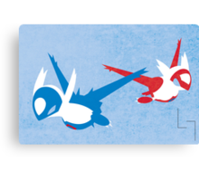 Latios & Latias Canvas Print