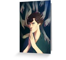 Sherlock Thinking Greeting Card