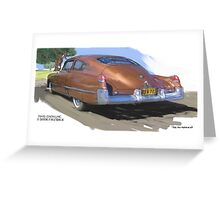 1949 Cadillac Fastback Greeting Card