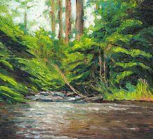 Badger Creek above the Weir by Dai Wynn