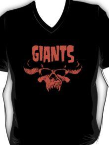 Giant Orange Danzig Skull T-Shirt