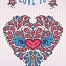 I love you - heart card by trossi