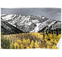 Rocky Mountains Kananaskis Alberta Canada in the Autumn Fall Poster