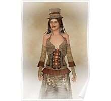 Steampunk Wild West Lady Poster