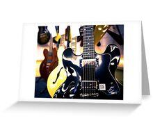 Shiny six strings Greeting Card