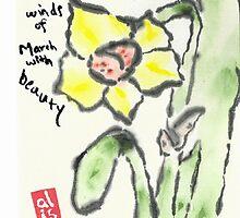 Daffodil etegami by Labontea