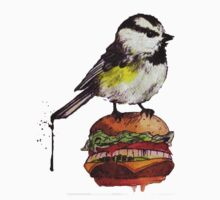 Cheeseburger Bird Tee by 525chantel