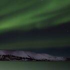 aurora landscape by JorunnSjofn Gudlaugsdottir