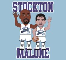 Caricatura de Karl Malone. John Stockton, players de los Utah Jazz by D4RK0