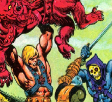 He-Man Masters of the Universe Battle Scene Sticker
