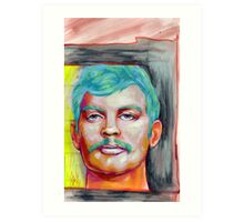 jeffrey dahmer portrait. Art Print