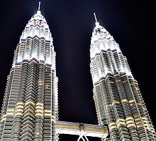 Petronas Towers Chinese New Year 2012 by Jean-Michel Dixte