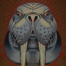 walrus totem art, lolrus, animal art, painting