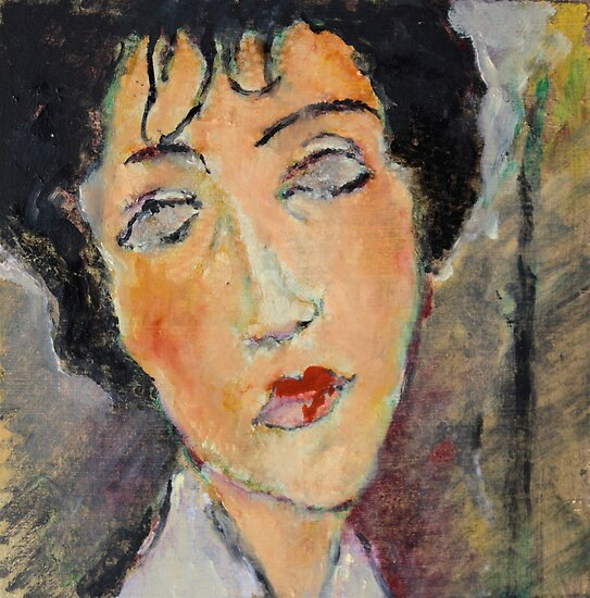 After Modigliani 2 by Lorenzo Castello