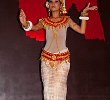 Cambodia. Siem Reap. Portrait of another Dancer. by vadim19