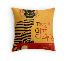 Chat du chesire Throw Pillow