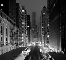 Chicago from the L Train by Peta Thames