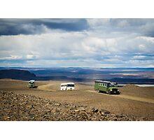 Buses of Landmannalaugar Photographic Print