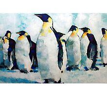 Emperor Penguins Artwork Painting Photographic Print