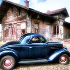 &#x27;36 Ford at the Kopperl Texas Depot by Terence Russell