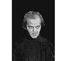 Jack Nicholson (Jack Torrance) The Shining poster Photographic Print