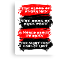 Red and Black Canvas Print