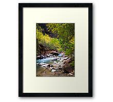 Virgin River in Autumn Framed Print