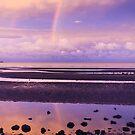 Rainbow over Bramble Bay by Silken Photography