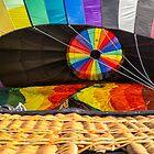 Hot Air Balloon Firing Up by Edward Fielding