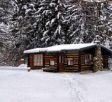 Winter Cabin by Kathy Weaver