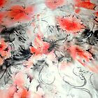Poppy Impressions silk satin by JSDesign