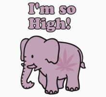"Pink Elephant ""I'm so High!"" by reggae-paradise"