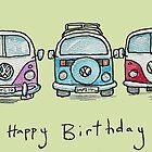 Three VW Camper Vans by AndyLanhamArt